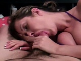 Beautiful Brunette Babe Blowjob And Make Feel To Her Man