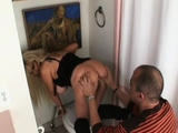 Angels gets her butt worshipped and licked by a kinky lad