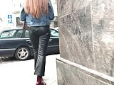 Latvian vacations - Girl in leather pants with a sexy ass