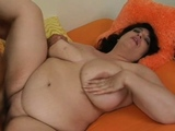 Lad cums on plump girlie after banging her very well