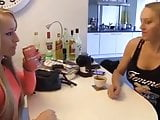 Belgian milf and younger friend share a load