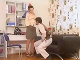Sexy Teacher Seduces Her Student by jerking him