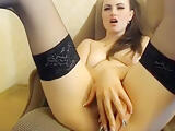 Depraved Missslady fucks herself in front of webcam