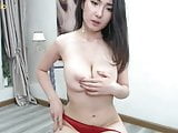 Beautiful Asian girl screaming comfort in the pussy with che