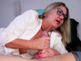 Best handjob by busty MILF