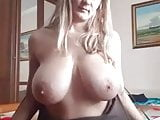 Blonde MILF showing her big boobs on live