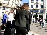 Candid Meeting in streets of hot office lady in high heels