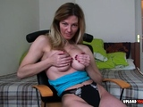 Angelic blonde with big tits shows off