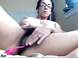 latino hairy milf mensturbating in webcam
