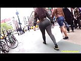 Super Phat Latina Candid Booty in Green Leggings