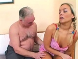 Slutty hotty is fucking an aged man she is in love with