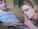 Horny milf gets smashed by a young hot stud
