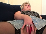 Horny old grandmother double penetration