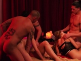 Hot swinger orgy in the jacuzzi!
