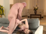 Hot young blonde fucks old guy first time Russian