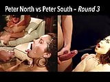 Peter North vs Peter South Round 3 Battle of Huge Cumshots