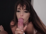 Admirable latin Natty Mellow with massive tits blows dangler