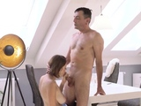 VIP4K. Mature male pushes his dick into pink pussy