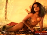 A Seductive Moment For Solo Indian Dancing Gracefully