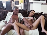 Daddy fucks virgin pal companions daughter and old wife