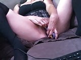 Wife shows off on cam Masturbates pussy Dildo vibe