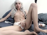 Small tit girl Georgia Jones masturbating in panties