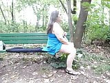 i getting me some cock on park bench getting fucked hard