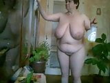 BBW Vanya cleans the nude again