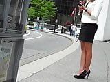 Candid Office Lady in high heels 2