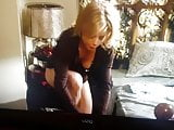 modern family- caught having sex. slomo of claire in panties