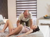 OLD4K. Anita B dreams about hot sex with old guy