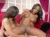 Ebony seductress Jada Fire knows how to reach squirting orga
