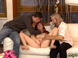 German old gangbang Unexpected practice with an older