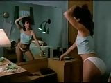 Sexy Girl Dancing in Front of Mirror