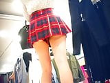 Upskirt Girl With Dress Scottish In Clothing Store (Repost)