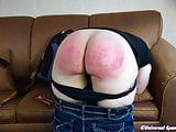 Red and Sore - Spanking