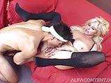Busty blonde milf gets smashed by young stud