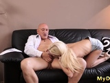 Old man cums inside young girl Sweet Candee Licious found