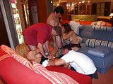 Amateur orgy in furniture store