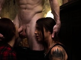 Slave sucks masters dick Excited youthfull tourists