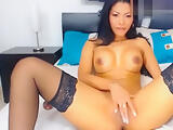 Gaticahotsexy: seductive asian chick fucks herself