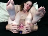 gaping and large anal toys